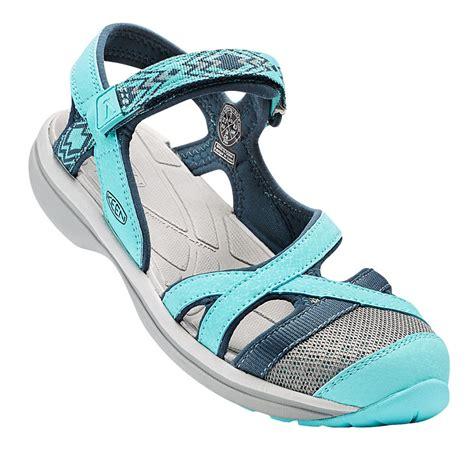 keen trekking sandals keen ankle womens blue water resistant walking hiking