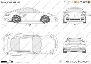 Porsche 911 Dimensions The Blueprints Vector Drawing Porsche 911 Gt2 997