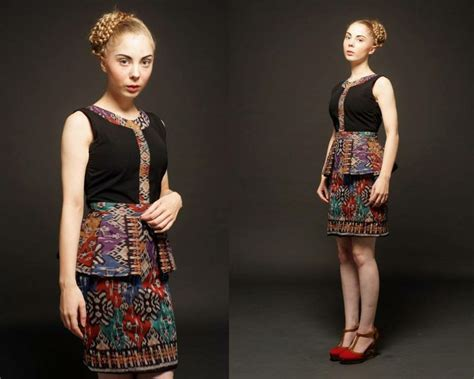 Dress Navy Fashion Wanita Dress Wanita model baju batik terbaru wanita ethnic model baju batik modern and simple