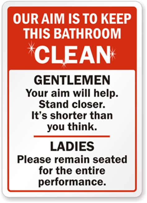 funny bathroom signs for cleanliness keep bathroom clean signs