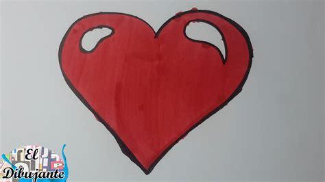 imagenes de un corazones como dibujar un coraz 243 n paso a paso el dibujante youtube