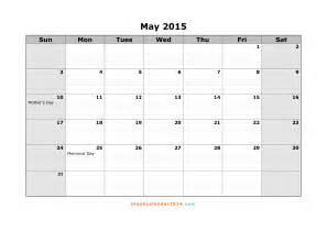 May 2015 Calendar Template by May 2015 Calendar Template Madinbelgrade