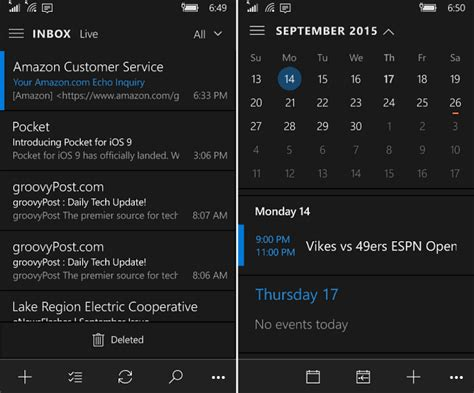 themes for windows 10 mobile outlook mail and calendar app on windows 10 mobile gains