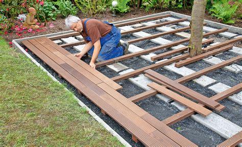 Terrasse Bauen Unterbau