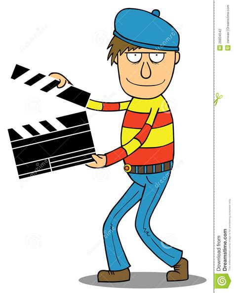 cartoon film editor cartoon director stock photography image 26834542