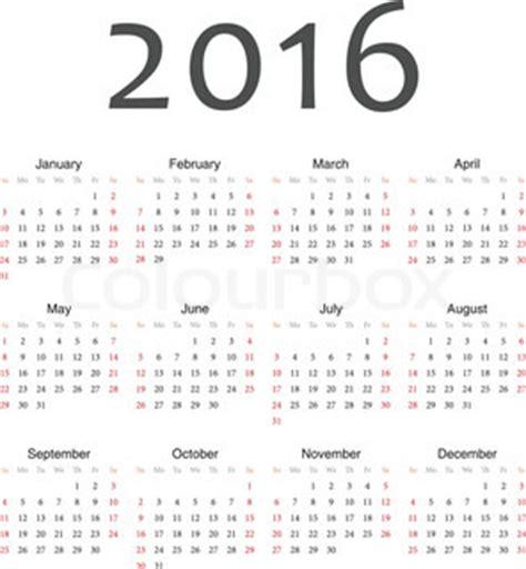 printable week numbers 2016 7 best images of 2016 calendar with week numbers printable