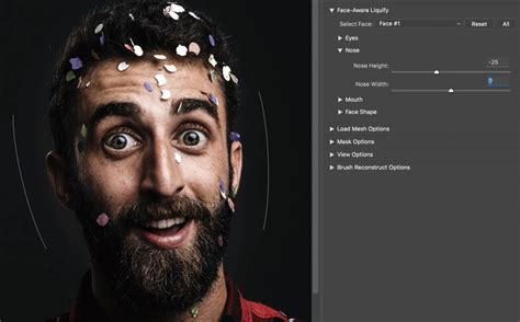 adjust  exaggerate facial features adobe photoshop