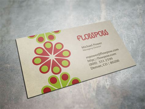 power card template template colorful flower power business card 187 logotire