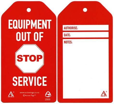 service tags store tags working towards a safer workplace