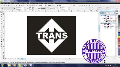membuat logo trans tv tutorial corel draw cara membuat logo trans tv rhizkie share