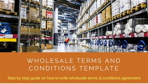 Wholesale Terms And Conditions Template Download Editable Document Wholesale Terms And Conditions Template Free