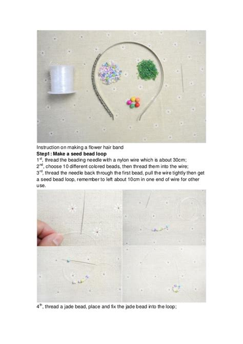 how to make a delicate flower hair band