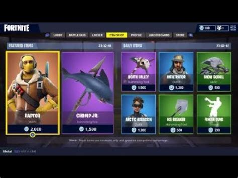 daily items and skins today in fortnite battle royale