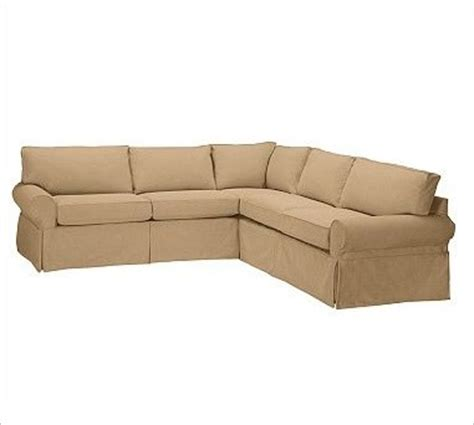 L Shaped Slipcovers pb basic 2 l shaped sectional slipcover textured basketweave flax traditional