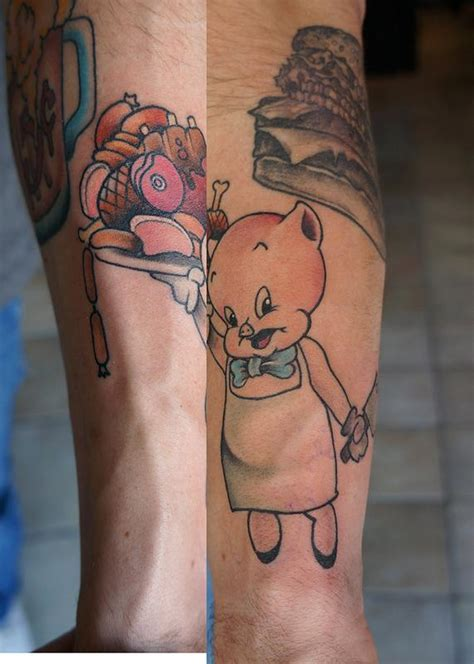 tattoo chef cartoon chef porky by jamie clinton tattoonow