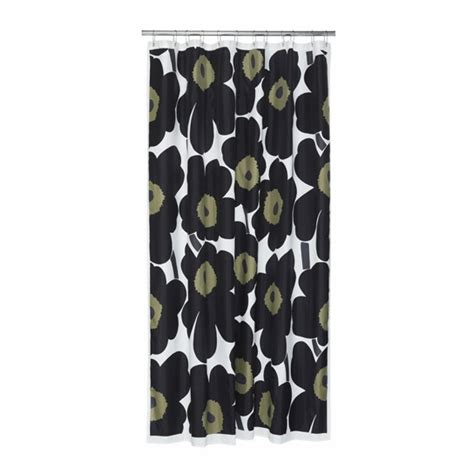 marimekko shower curtain marimekko black unikko polyester shower curtain