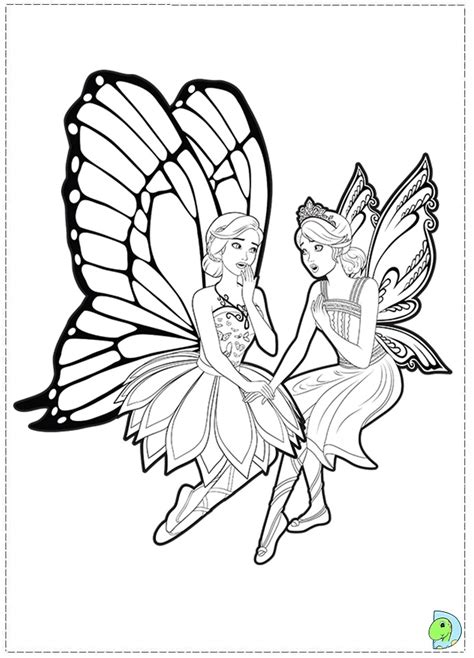 barbie fairies coloring pages images
