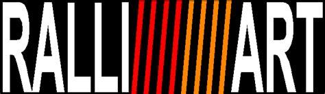 ralliart logo 3 color ralli art logo