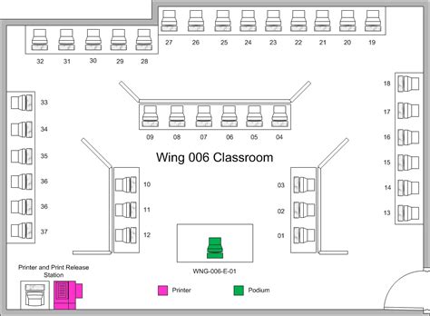 computer room floor plan computer classrooms and labs its uw la crosse