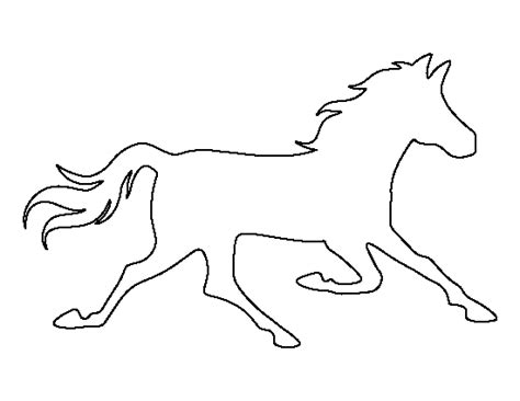 printable horse templates running horse pattern use the printable outline for