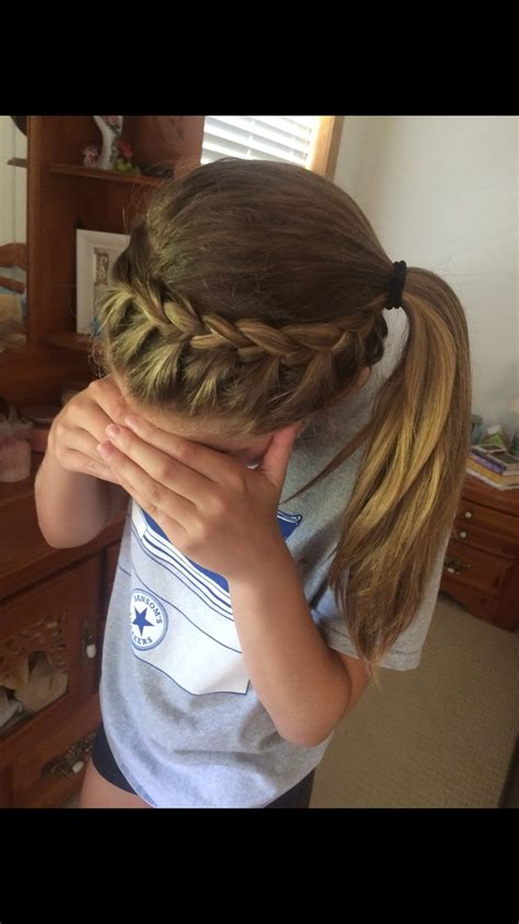 volleyball hairstyles braids volleyball hair hair care styles pinterest
