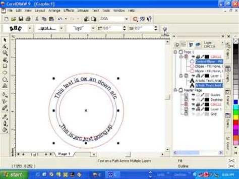how to curve text in coreldraw x5 arcing text in coreldraw youtube