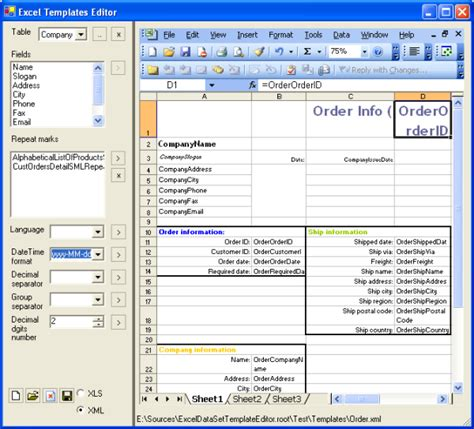 excel form template excelml templates editor data visualization using office