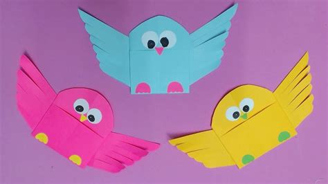 Birds With Paper - how to make bird with color paper diy paper birds