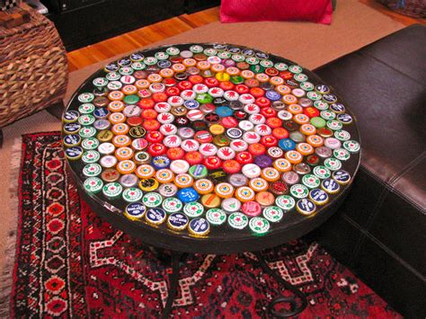bottle cap coffee table bottle cap table with poured resin surface 9 steps with