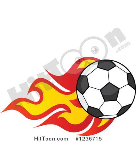 Free Clipart Flaming Soccer by Soccer Clip 24
