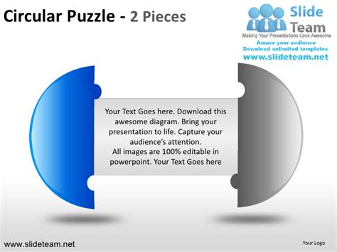 Cycle Circular Round Jigsaw Maze Piece Puzzle 2 And 3 Pieces Powerpoi Jigsaw Ppt