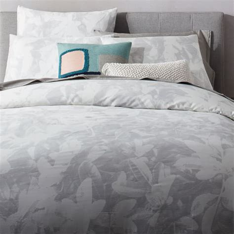 organic bedding sale 400 thread count organic sateen floral etching duvet cover