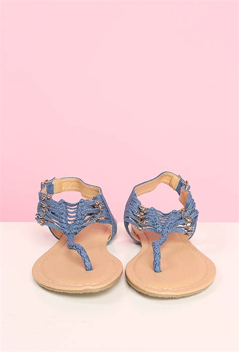sandals at denim sandals shop shoes at papaya clothing