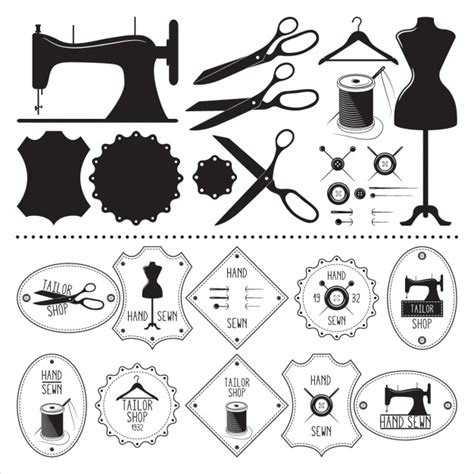 sewing borders design elements vector tailor vectors photos and psd files free download