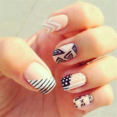 cute pattern nails cute nail ideas