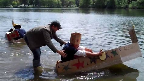 cardboard boat building challenge cardboard boat building challenge team building