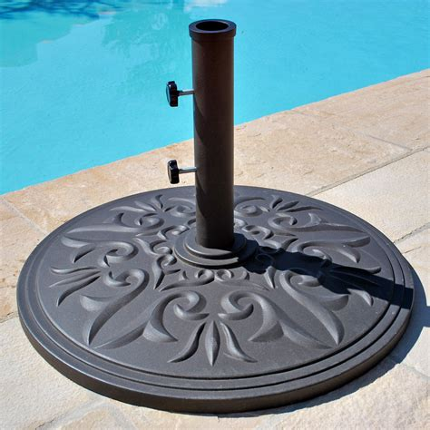 Patio Umbrella Stands Galtech 75 Lb Cast Aluminum Umbrella Base Patio Umbrella Stands At Hayneedle