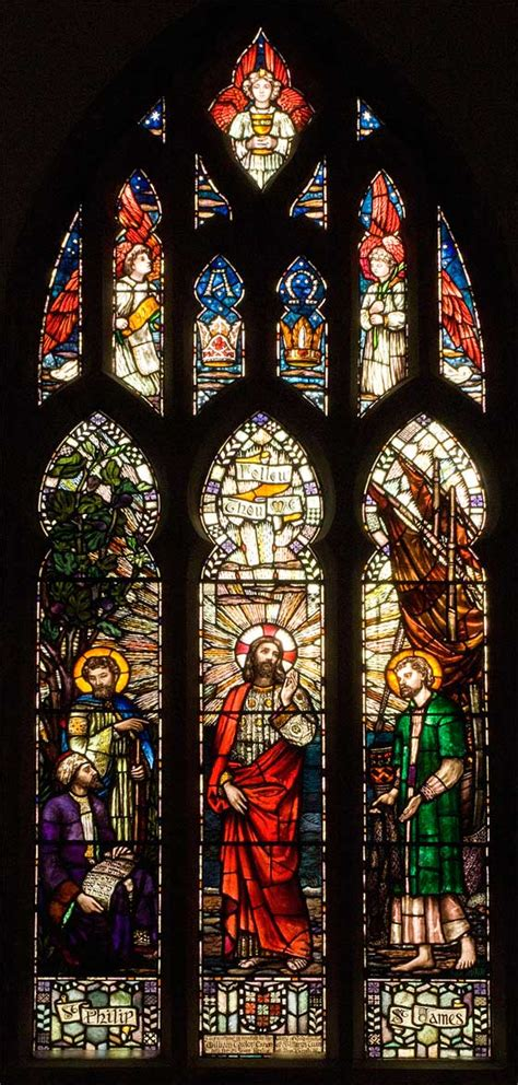 Charming Pictures Of Stained Glass Church Windows #6: Sarah_Purser_Christ_with_Philip_and_St_James.jpg