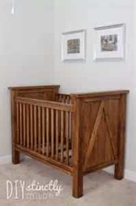 How To Make A Crib by White Diy Farmhouse Crib Featuring Diystinctly