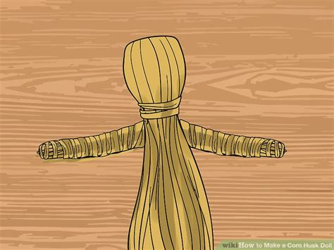 how to make a corn husk doll step by step how to make a corn husk doll with pictures wikihow