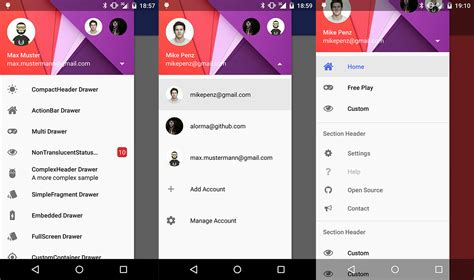 drawer layout material design android github mikepenz materialdrawer the flexible easy to