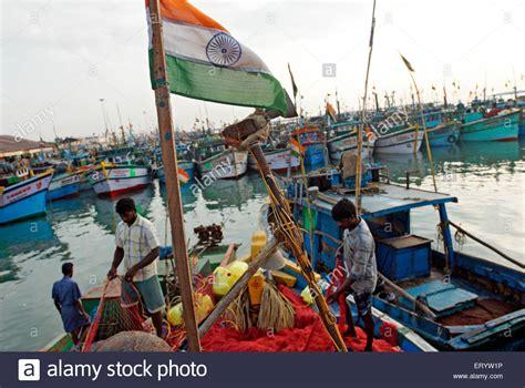 buy a fishing boat in india indian flag on fishing boat at royapuram madras chennai