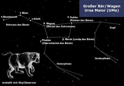 sternbild grosser wagen gro 223 er b 228 r oder wagen sternbilder 252 ber bayern
