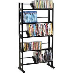 dvd racks atlantic multimedia storage rack wood metal walmart com