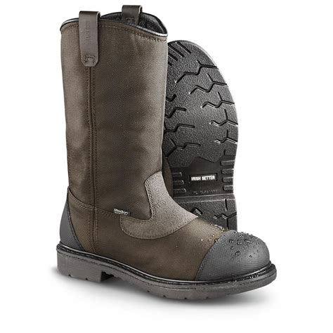 mens pull on boots s setter farmington steel toe pull on boots