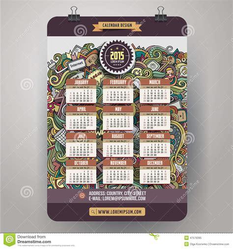 goldendoodle 2015 calendar doodles social media calendar 2015 year design stock