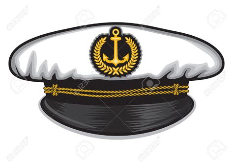 How To Make A Captain Hat Out Of Paper - captain cap clipart