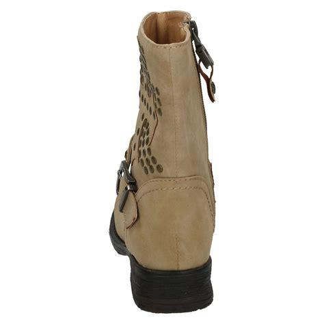 casual biker boots girls casual biker zip up boots ebay