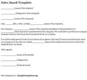 Email Sales Template by Email Template For Sales Sle Of Sales Email Template