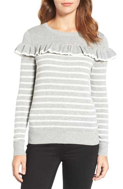 Trend Worth Trying White Gray Sweaters by Ruffle Sweaters On Trend For Winter And 2017 In
